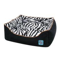 Cama Para Perros y Gatos Mediana Cuadrada Diseño Zebra