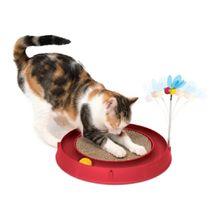 Juguete Para Gatos Catit Con Rascador Pelota Rojo