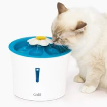 Fuente Automática Para Gato Catit Flor Luz Led Azul 3 Lt