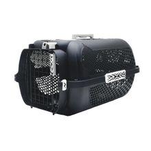 Guacal Transportador Para Perros y Gatos Talla M Negro