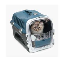 Guacal Para Gatos Catit Cabrio Azul Grisaceo