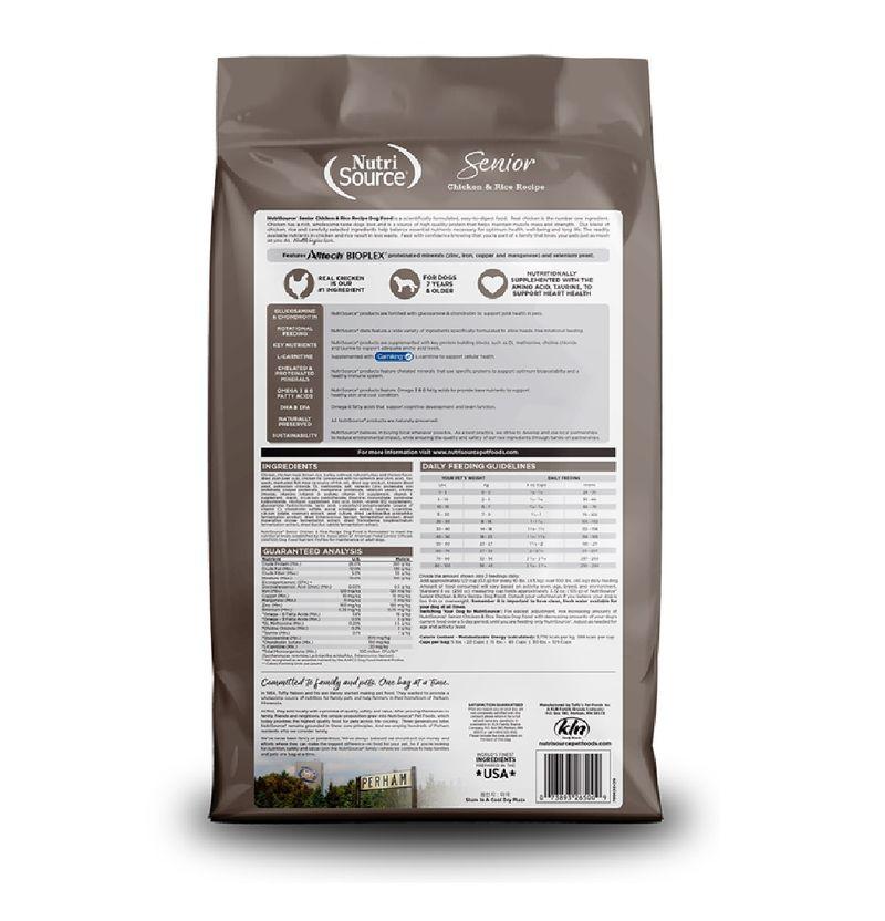 Comida-Para-Perros-Nutrisource-Senior-Chicken---Rice-30-Lb
